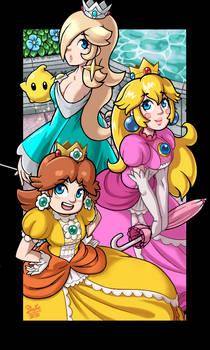 Mario Bros - Three Princess -