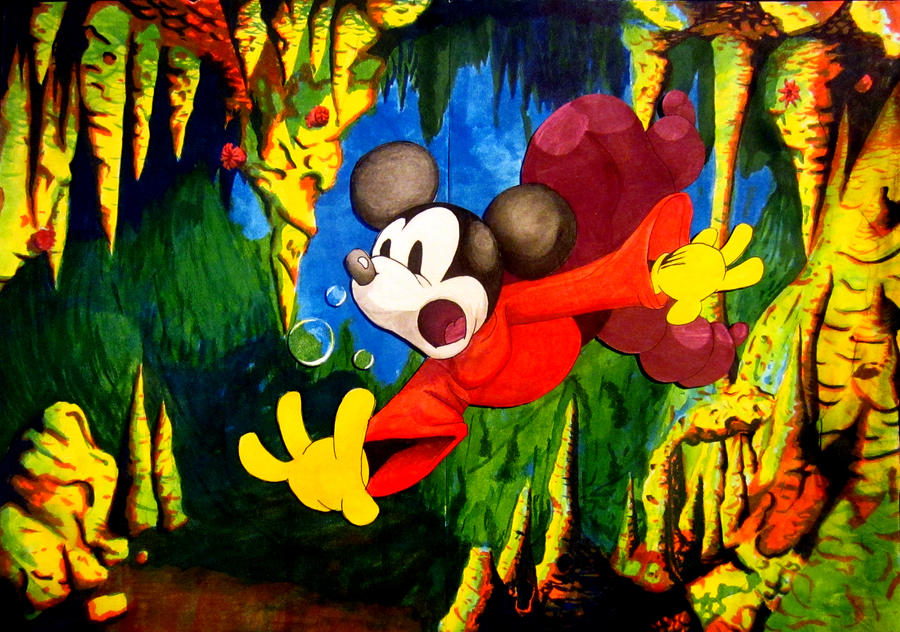 Mickey Mouse in the Serpent's Cave by DanielHuitron
