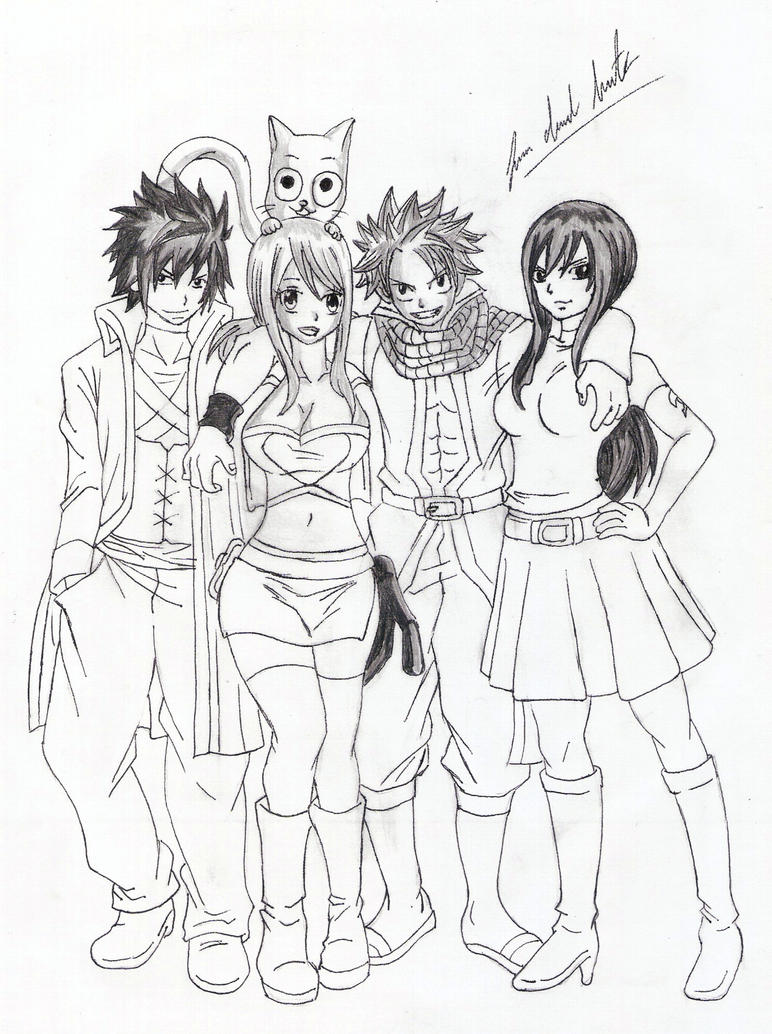 the strongest team of fairy tail by davidlatorre on deviantart