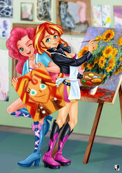 MLP: Sunflowers and a portrait of a girlfriend