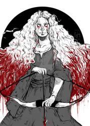 Inktober Day 18: Bloody Merida