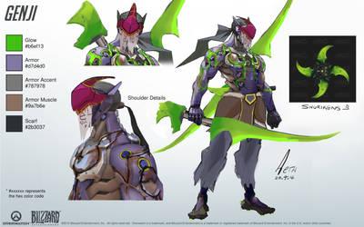 Demon Hunter Genji by aethage