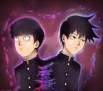 Mob and Ritsu