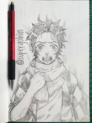 Tanjirou by SuperG0blin