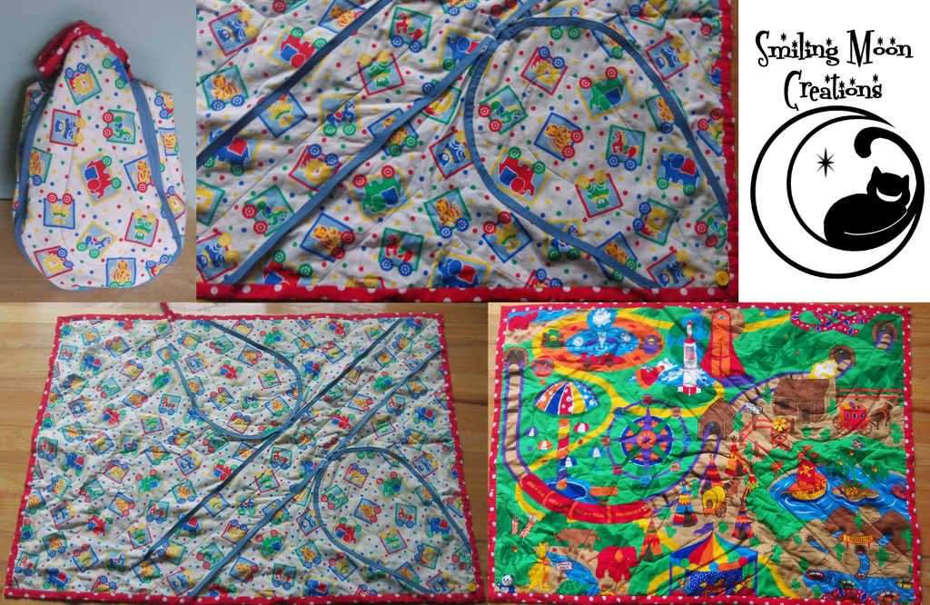 Amusement Park 1 Playmat Tote by SmilingMoonCreations