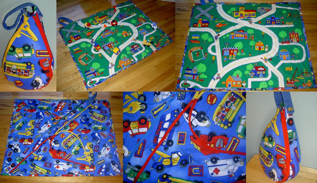Bear Town Cars Playmat Tote