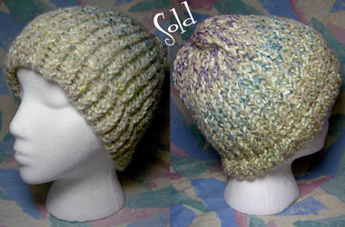 Beige Rainbow Hat by SmilingMoonCreations