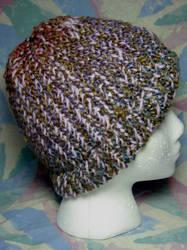 Thistle n' Brown Rainbow Hat by SmilingMoonCreations