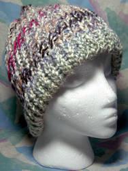 Neapolitan Swirl 'n Grey Hat by SmilingMoonCreations