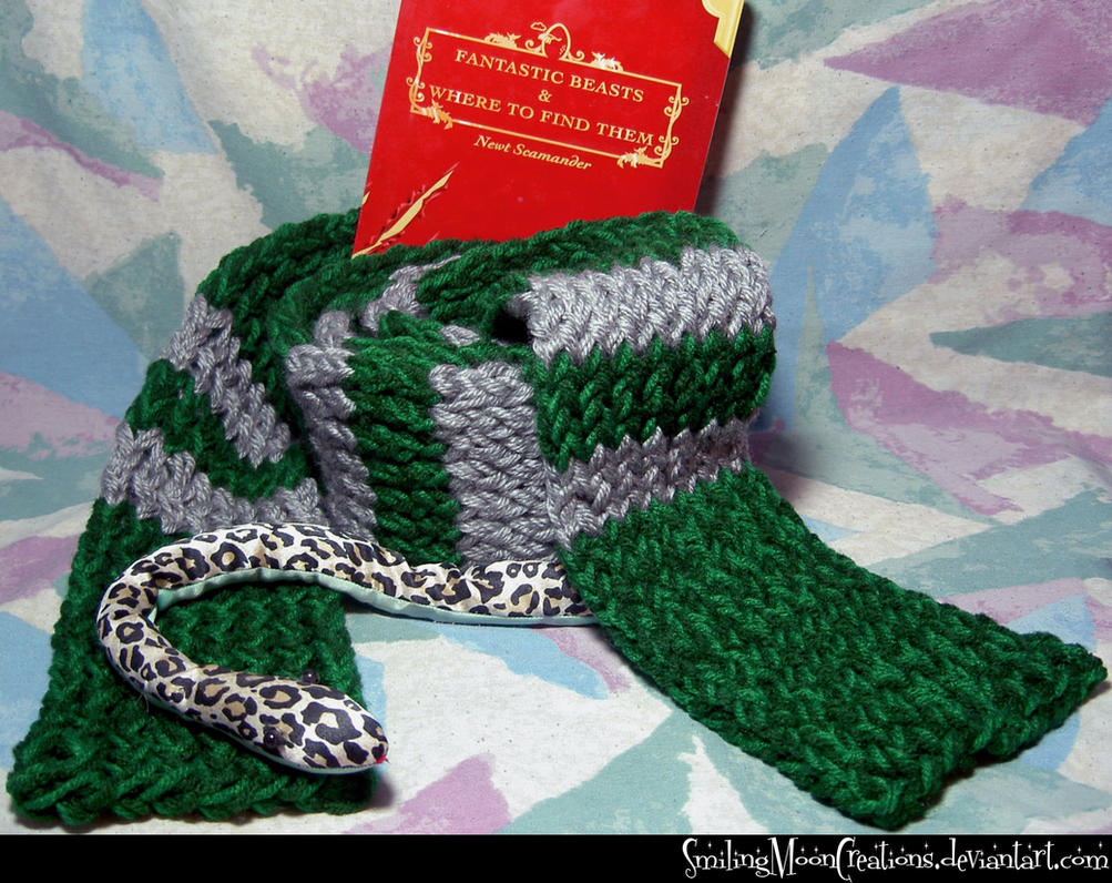 Slytherin Hand-Knit Scarf