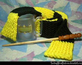 Hufflepuff Scarf 1 by SmilingMoonCreations