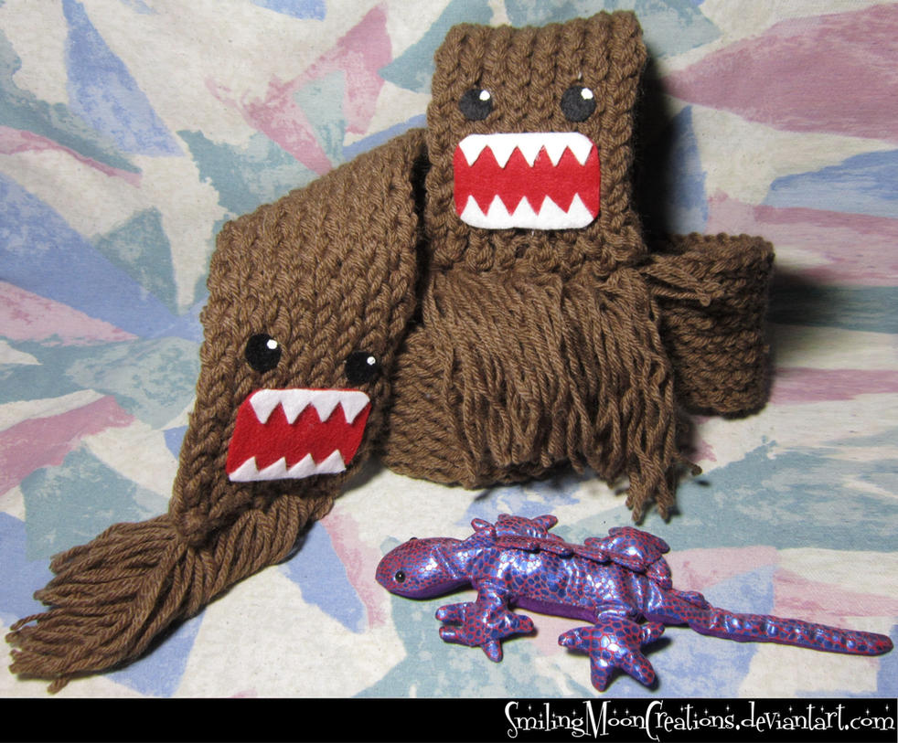 Domo-Kun Hand-Knit Scarf
