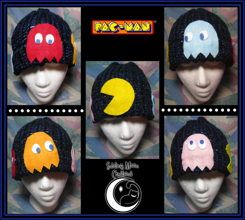 Pac-Man Hand-Knit Hat