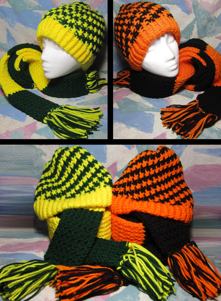 Ducks and Beavs Civil War Hand-Knit Sets