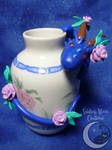 Rosie Vase Dragon by SmilingMoonCreations