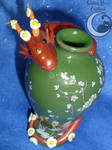 Blossom Vase Dragon by SmilingMoonCreations