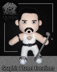 Freddie Mercury Plush by GraphicPlanetDesigns