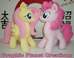 Fluttershy and Pinkie Pie Plushies