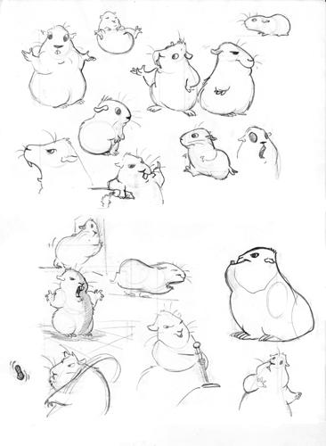 how to draw a guinea pig cartoon