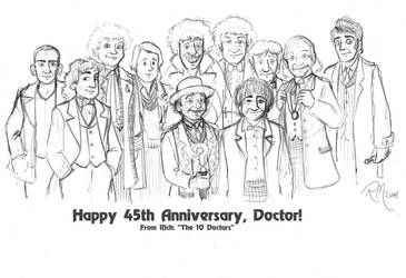 45 Years of Doctor Who by Gorpo