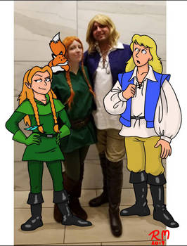 Lucas and Cadugan, Cosplay and the Characters.