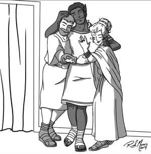 Rufus, Laris and Dianthea.