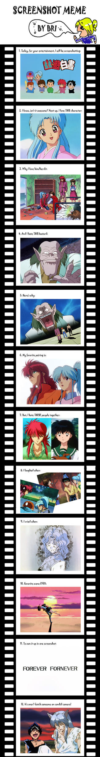 Screenshot Meme: Yu Yu Hakusho by radioactiveshake