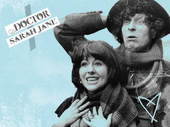 The Doctor and Sarah-Jane by kayleekristalee