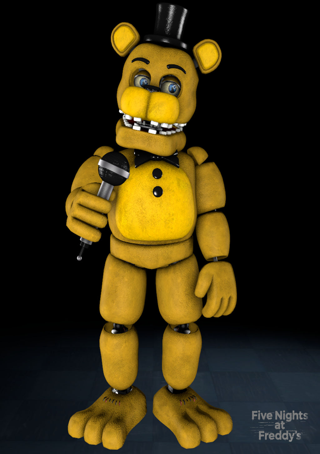 (SFM FNAF) Unwithered Golden Freddy Poster by Mystic7MC on ...
