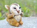 Needle felted barn owl Griffin chicks