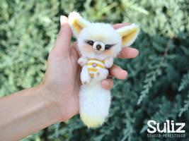 Newborn white Fennec! by SulizStudio