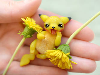 Baby Pikachu ( My version Pokemon) by SulizStudio