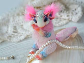 Pink Axolotl by SulizStudio