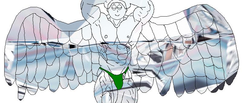 Diamond God's bodybuilding pose by Someguy1997