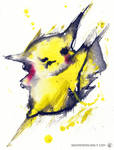 Pikachu by wednesday-wolf