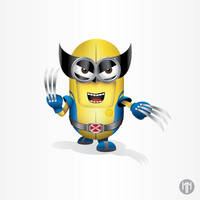 Minion x Wolverine by NazariaNz