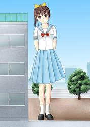 giant schoolgirl! by swallowjp