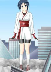 Giant girl Chizuru by swallowjp