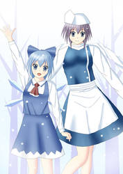 Cirno and Letty by swallowjp