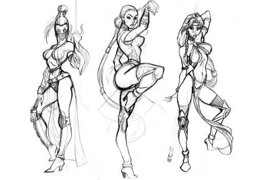 Mileena, Kittana, Jade