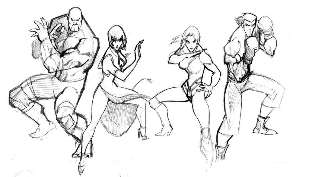 Marduk ,Anna ,Nina ,Steve by Seeso2D