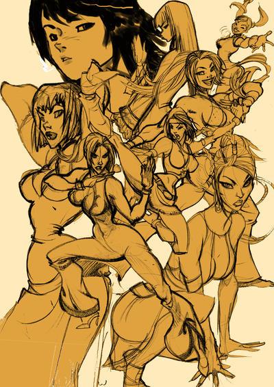 tekken girls by Seeso2D
