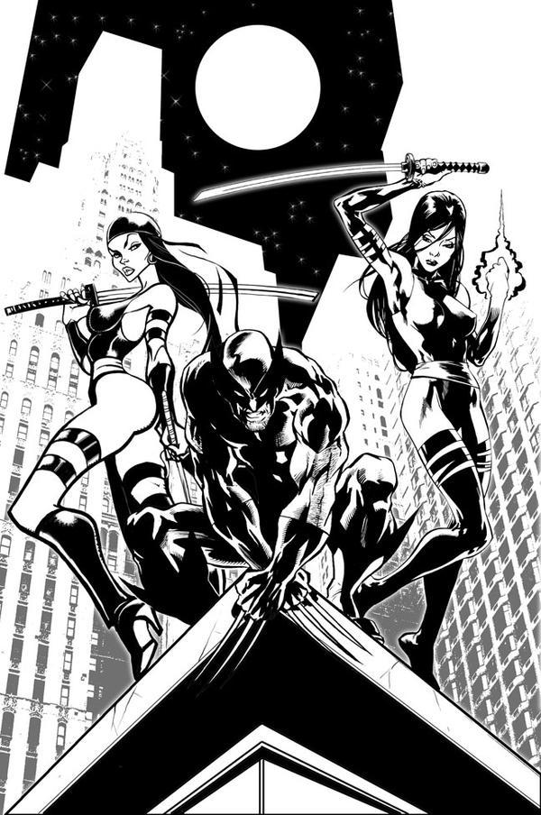 Elektra..Wolverine..Psilocke by Seeso2D