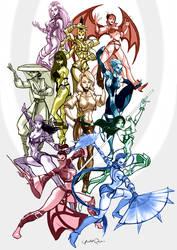 Mortal Kombat girls by Seeso2D