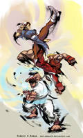 street fighter 4 by Seeso2D