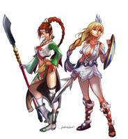 Soungmina and Sophitia by Seeso2D
