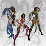 Kitana, Mileena, Jade MK9