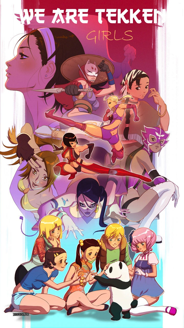 We Are Tekken, girls by Seeso2D