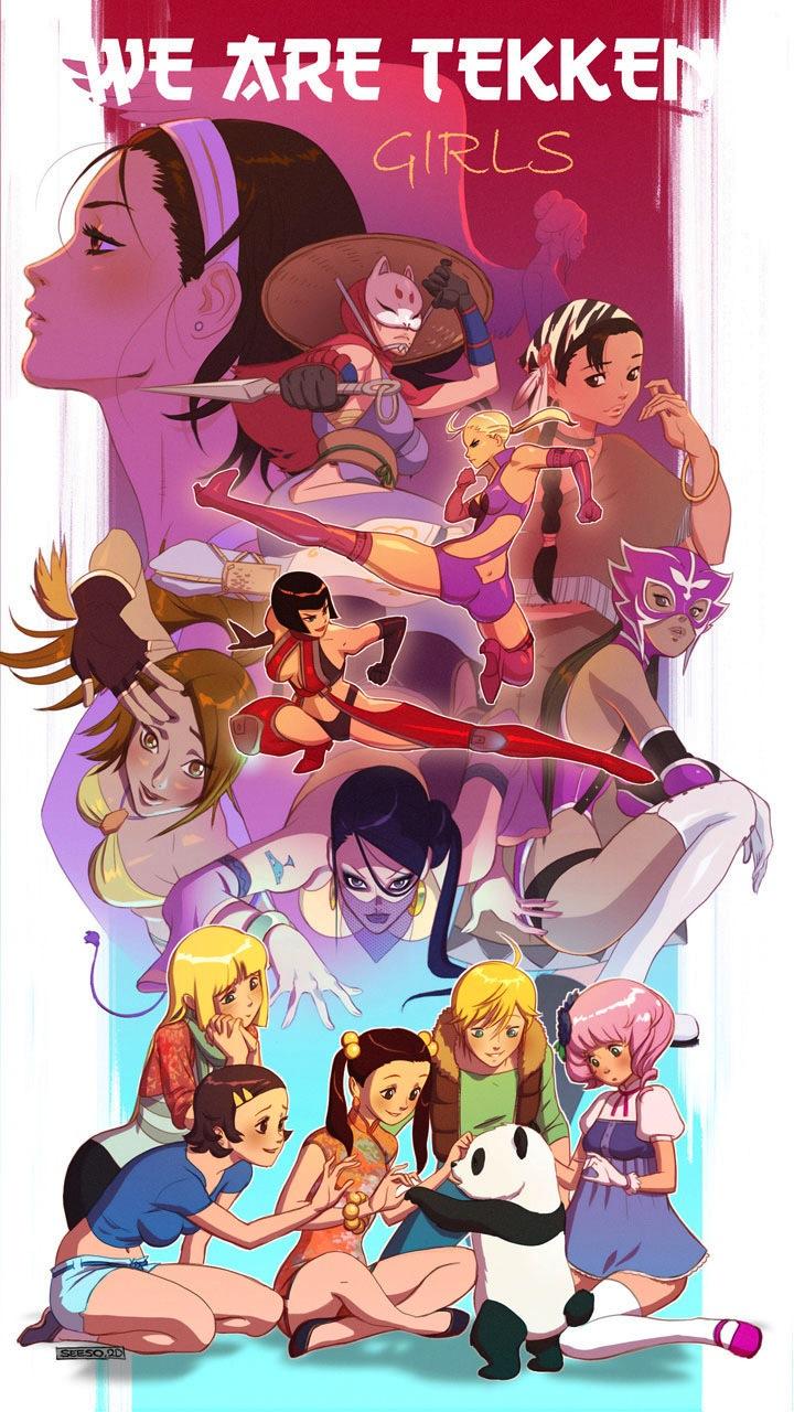 We Are Tekken, girls by Seeso2D