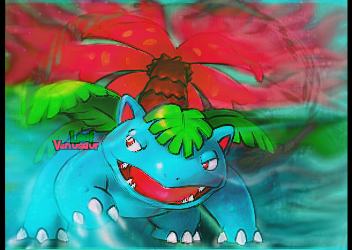Venusaur Leaf Pokemon Smudge by Chanse122